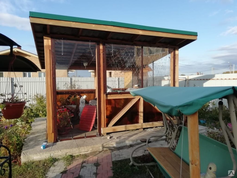 Мягкие окна ПВХ для террасы, цена в Челябинске от компании ЧЕЛЯБТЕНТСЕРВИС